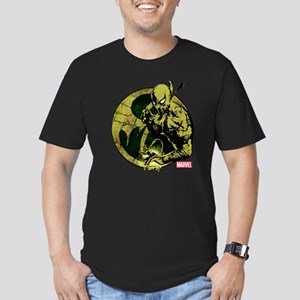 Iron Fist On Icon Men's Fitted T-Shirt (dark)
