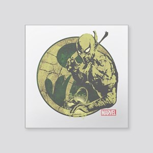 "Iron Fist On Icon Square Sticker 3"" x 3"""