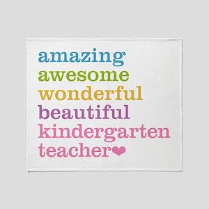 Kindergarten Teacher Throw Blanket