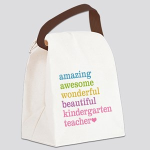 Kindergarten Teacher Canvas Lunch Bag