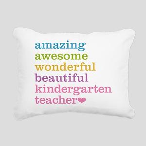 Kindergarten Teacher Rectangular Canvas Pillow