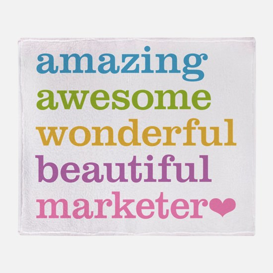 Awesome Marketer Throw Blanket