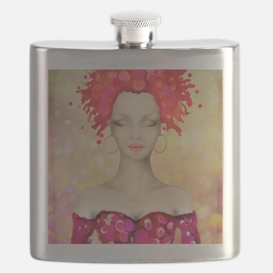 Funny Woman Flask