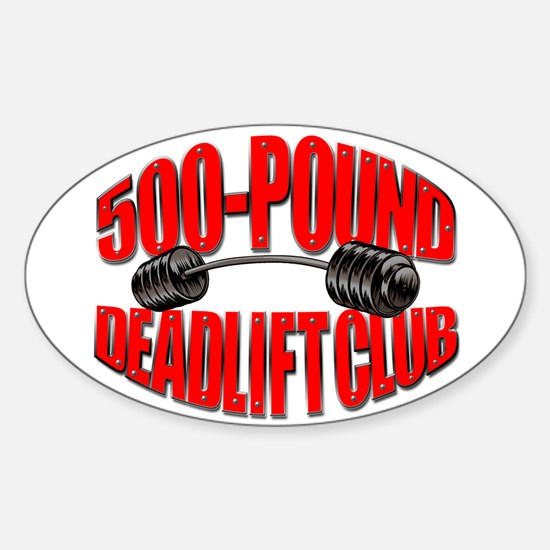 500-Pound Deadlift Club Oval Decal