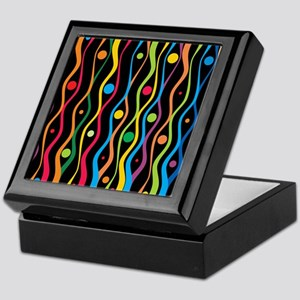 Colourful Ripples Background Keepsake Box