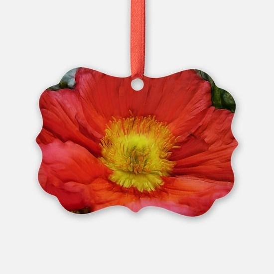 Unique Poppy Ornament