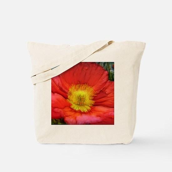 Unique Poppy Tote Bag