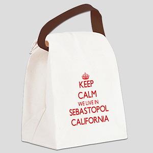 Keep calm we live in Sebastopol C Canvas Lunch Bag