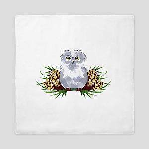 HOLIDAY OWL Queen Duvet