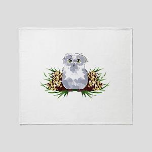 HOLIDAY OWL Throw Blanket
