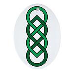 Celtic Knot Oval Ornament