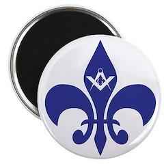 Masonic Fleur De Lis - Blue Magnet