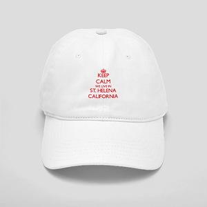 Keep calm we live in St. Helena California Cap