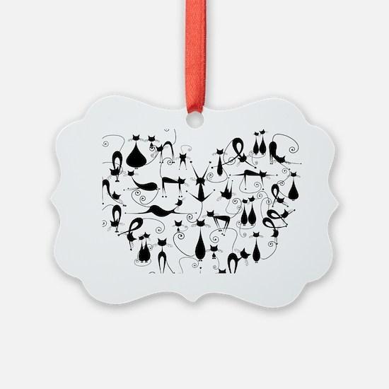 Heart Cats Ornament