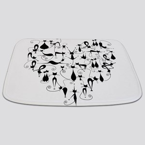Heart Cats Bathmat