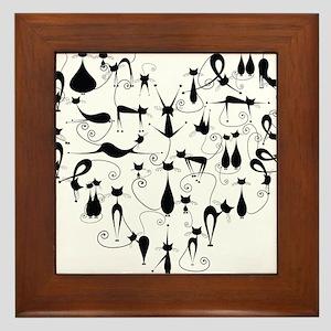 Heart Cats Framed Tile