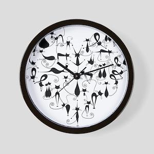 Heart Cats Wall Clock