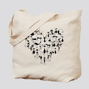 Heart Cats Tote Bag