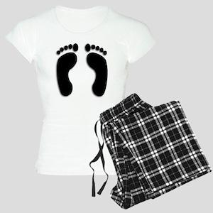 Bare foot Prints Women's Light Pajamas