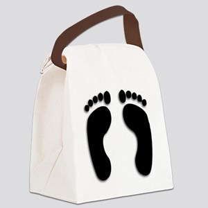Bare foot Prints Canvas Lunch Bag