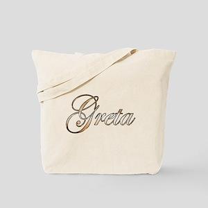 Gold Greta Tote Bag