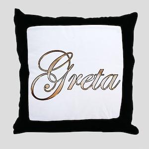 Gold Greta Throw Pillow