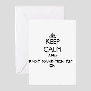 Keep Calm and Radio Sound Technicia Greeting Cards