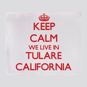 Keep calm we live in Tulare Californ Throw Blanket