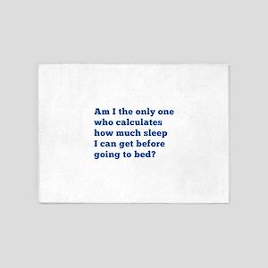 How Much Sleep 5'x7'Area Rug