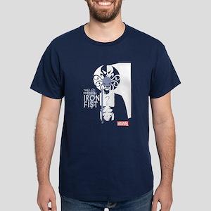 Iron Fist White Blue Dark T-Shirt