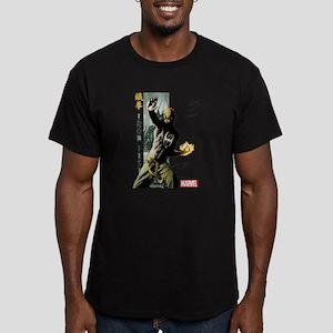 Iron Fist Vertical Cov Men's Fitted T-Shirt (dark)