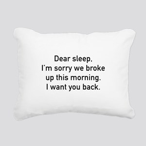 Dear Sleep Rectangular Canvas Pillow
