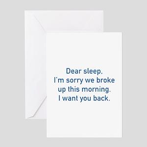 Dear Sleep Greeting Card