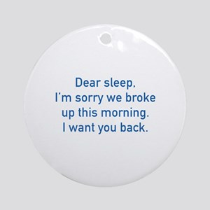 Dear Sleep Ornament (Round)