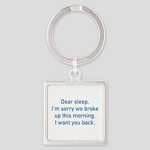 Dear Sleep Square Keychain