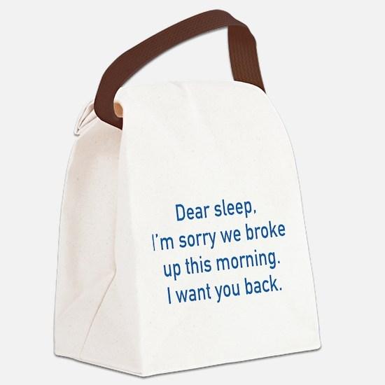 Dear Sleep Canvas Lunch Bag