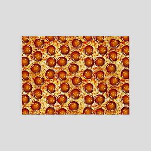 Pepperoni Pizza 5'x7'Area Rug