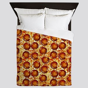 Pepperoni Pizza Queen Duvet
