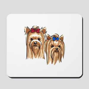 YORKSHIRE TERRIER HEADS Mousepad
