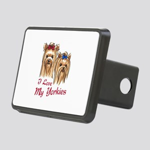 I LOVE MY YORKIES Hitch Cover