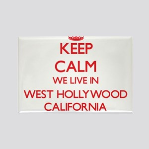 Keep calm we live in West Hollywood Califo Magnets