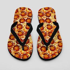 Pepperoni Pizza Flip Flops