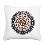 Second Amendment Square Canvas Pillow