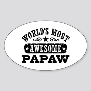 World's Most Awesome Papaw Sticker (Oval)