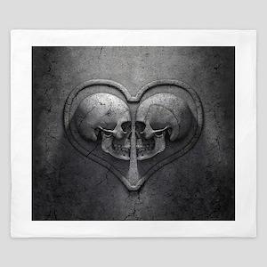 Gothic Skull Heart King Duvet