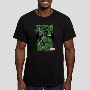 Iron Fist Green Panels Men's Fitted T-Shirt (dark)
