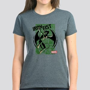 Iron Fist Green Panels Women's Dark T-Shirt