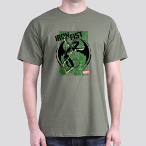 Iron Fist Green Panels Dark T-Shirt