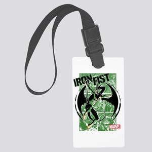 Iron Fist Green Panels Large Luggage Tag
