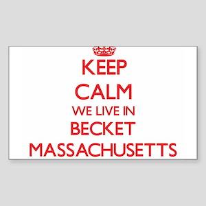 Keep calm we live in Becket Massachusetts Sticker